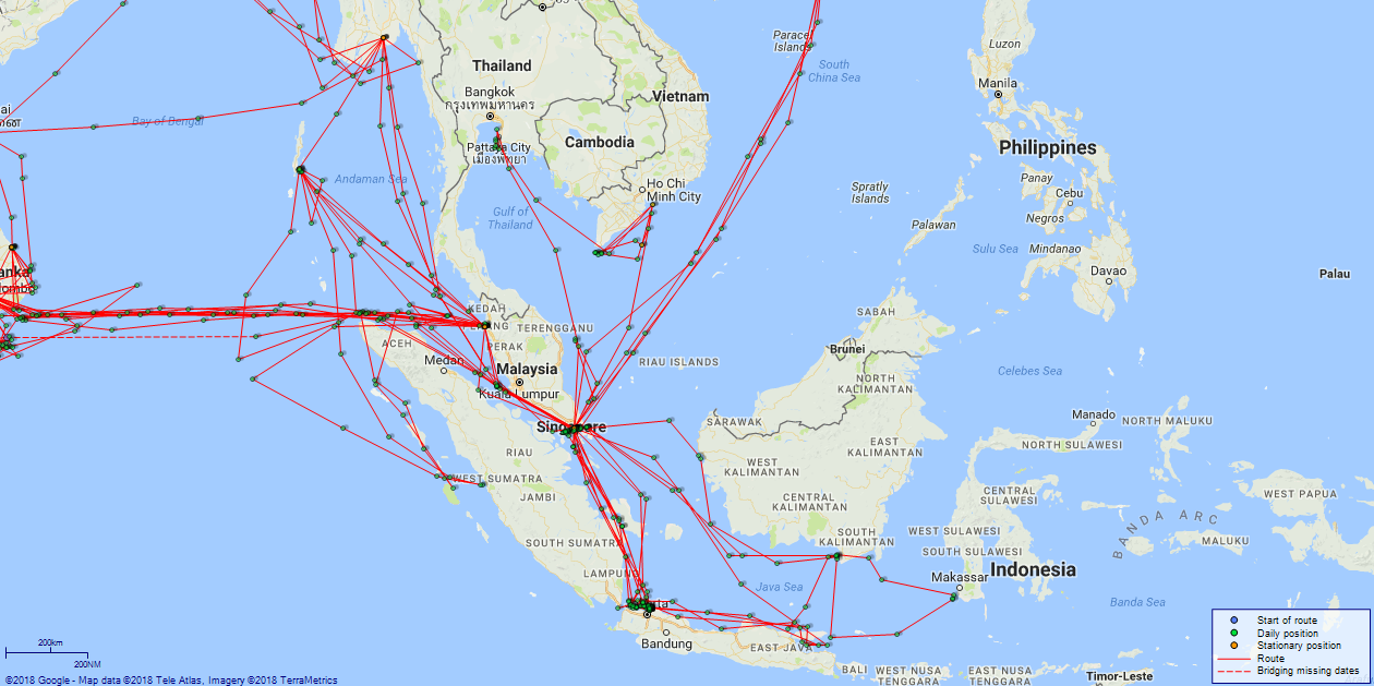 JP map Diana Indonesia and Malaysia
